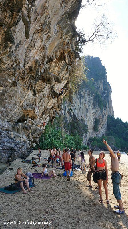 escaladă pe plajă în Ton Sai, faleza Adaman Sea/ TonSay Bay