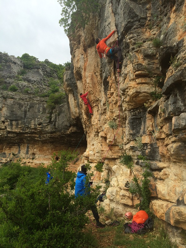 Karin climbing crag Croatia, Paklenica, rainy weather