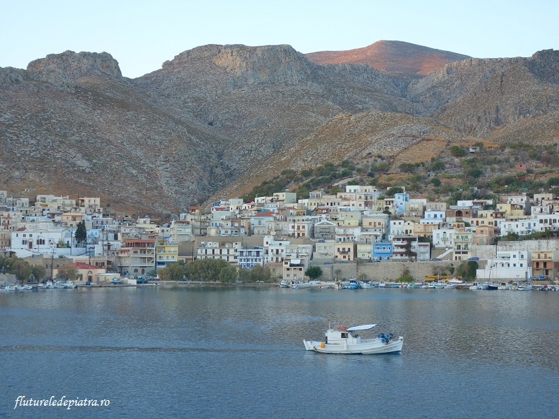 portul Kalymnos, Grecia, insula cataratorilor