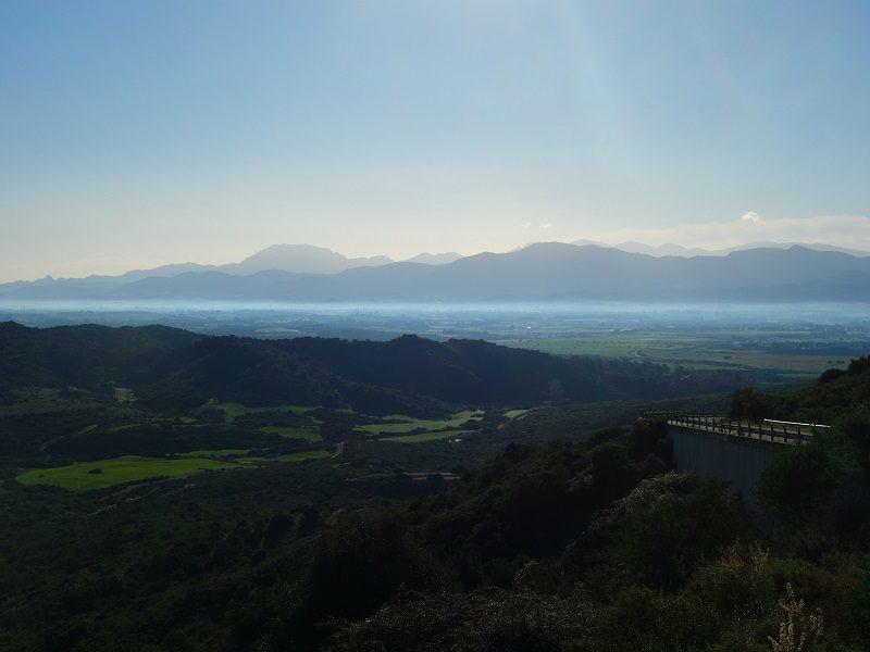 peisaj de la răsărit, Sardinia, Italia