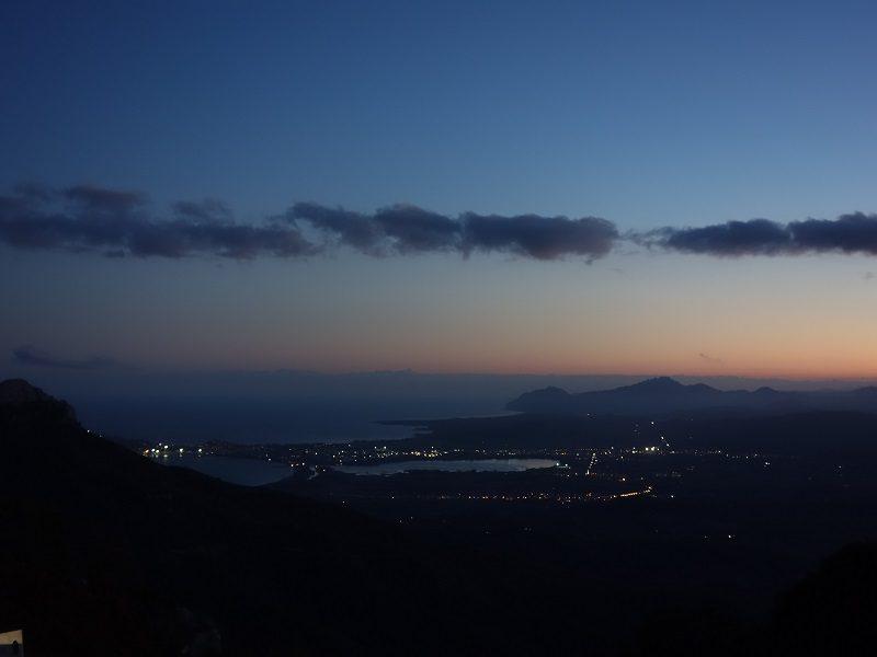 peisaj de noapte în Sardinia, vacanta