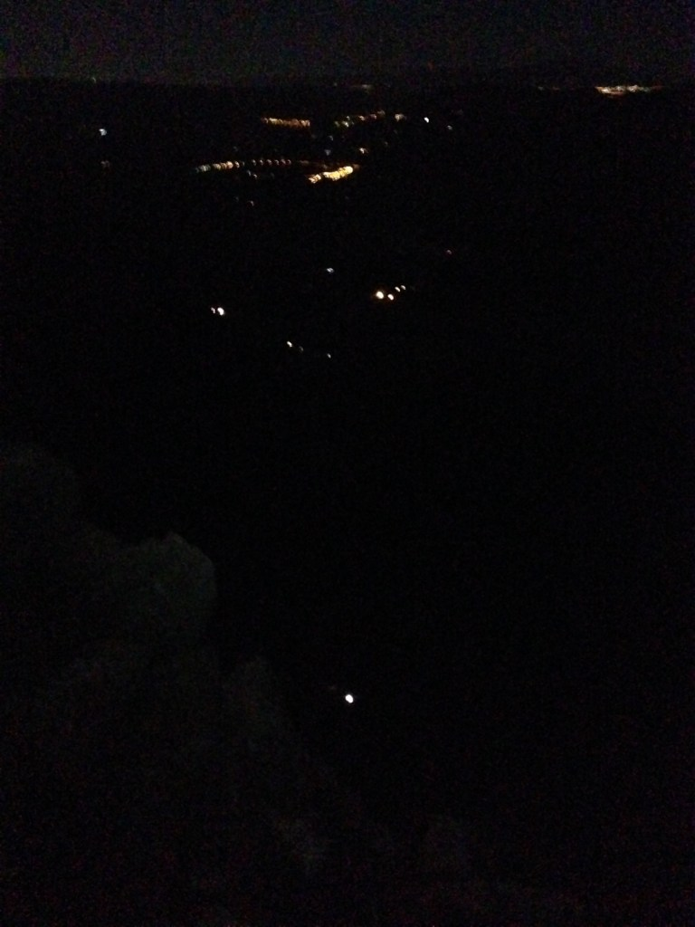 nighttime climbing in el chorro, spain
