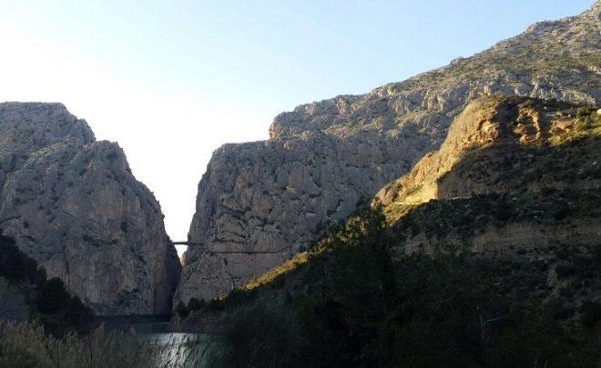 Traseul Rayito de Luna de lângă Caminito del Rey, El Chorro
