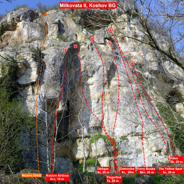 topo faleza escalada milkovata 2, koshov, bulgaria