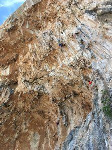 escalada pe insula kalymnos, grecia, grande grotta
