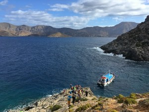 portul improvizat la Irox, Telendos, escaladă Kalymnos