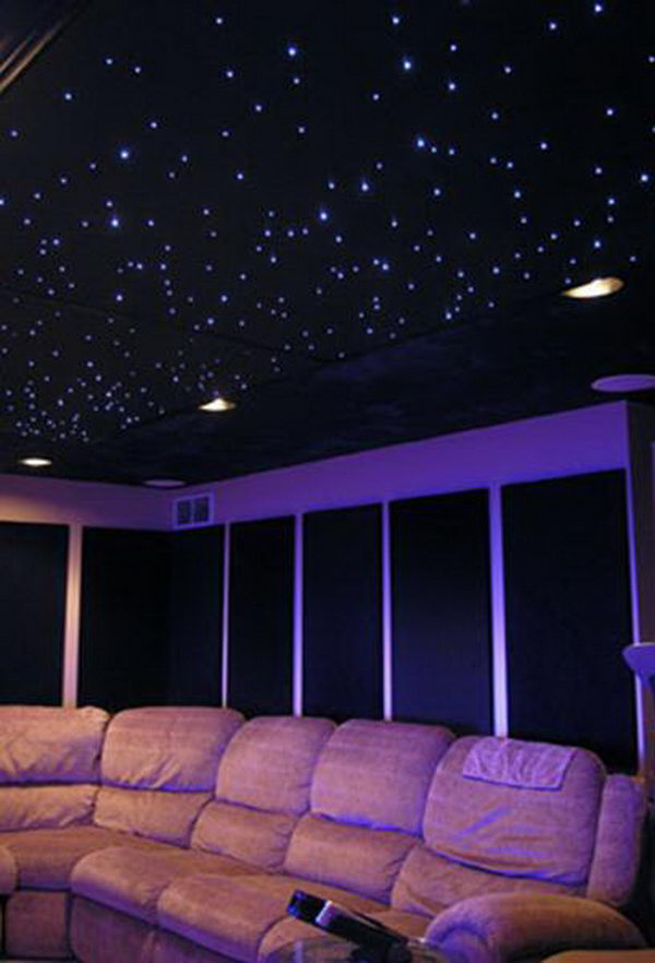 Light Ceiling Black Stars
