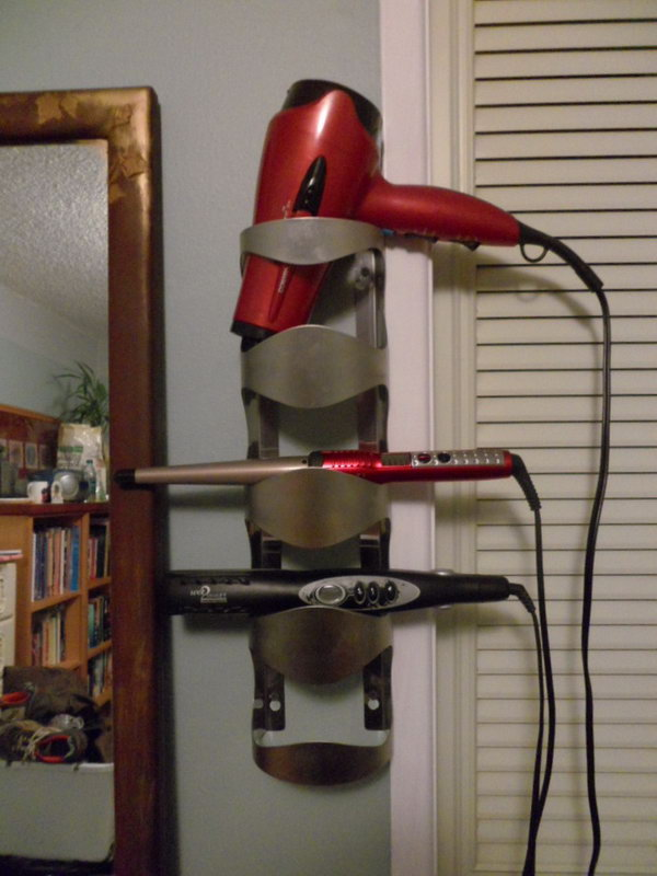 Creative Hair Dryer And Curling Iron Storage Ideas