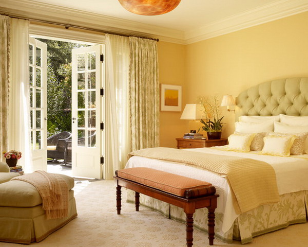 Bedroom Elegant Master Ideas With Upholstered Headboard Feat Frameless Mirror Over Creative Chandelier Plus