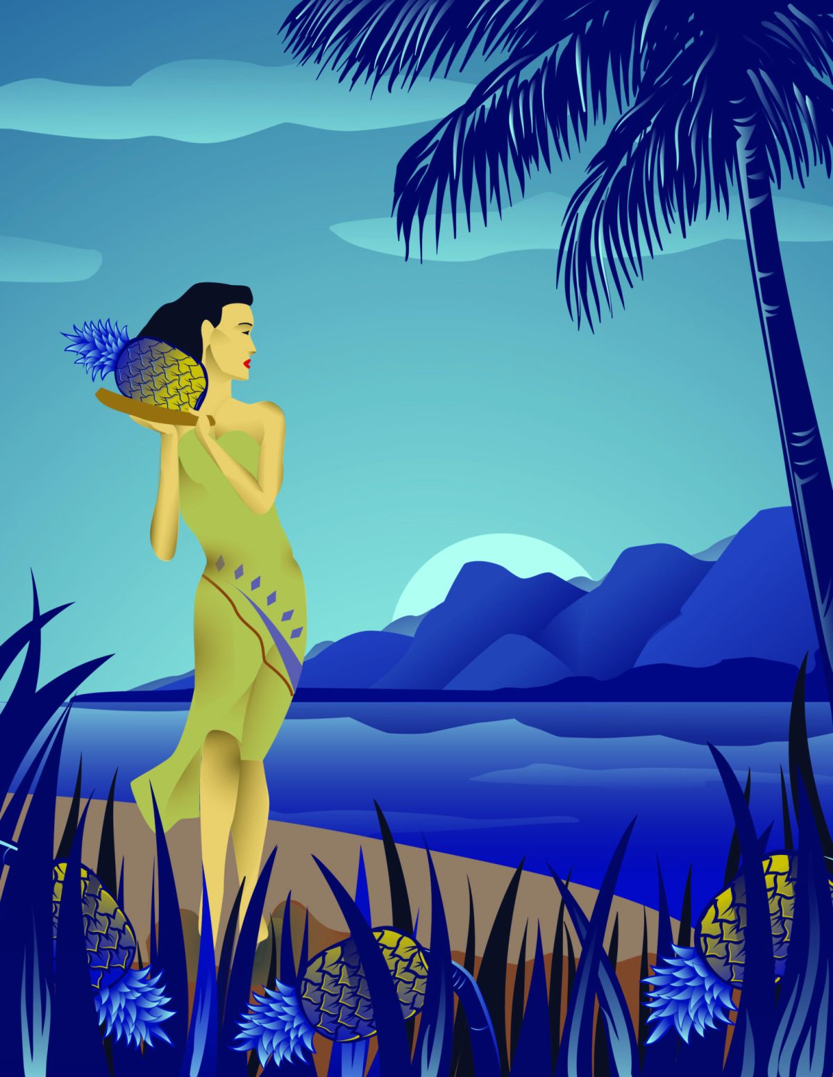 hula pineapple hawaii