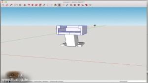 Blitzschuh-Verlängerung - screenshot aus ScetchUp