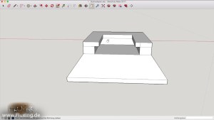 hot shoe adapter to mount flash mount accessories on a tripod - Screenshot from sketchup