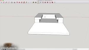 Adapter Stativ-Wechselplatte auf Blitzschuh - Screenshot aus SketchUp
