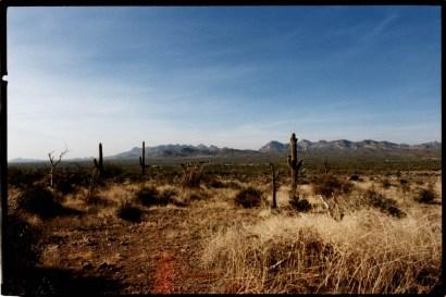 """Superstitution Mountains"", 1996, Sonora Desert, Arizona, Landscape/Light studies series, C–print"