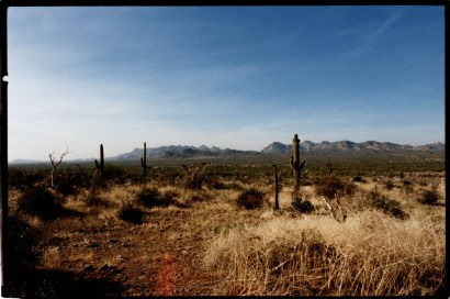 """Superstitution Mountains"", 1996, Sonora Desert, Arizona, Landscape/Light studies series, C–print"