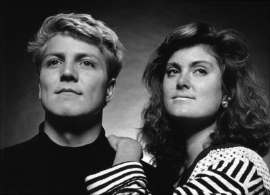 """Jennifer & David"" 1989, Richmond, Va, Gelatin Silver print"