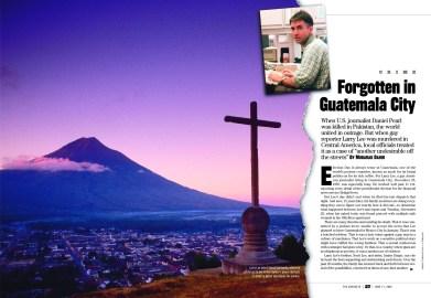 """""""The Advocate"""", Editorial spread, 2001, LPI Media"""