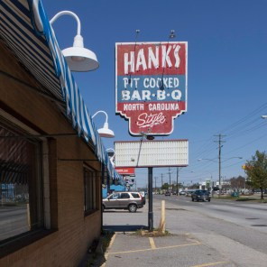 Hank's BBQ Sign, Jefferson Davis Highway, Virginia, 2011