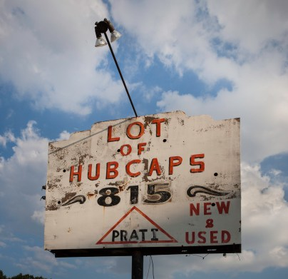 Lot of Hubcaps, Jefferson Davis Highway, Virginia, 2011