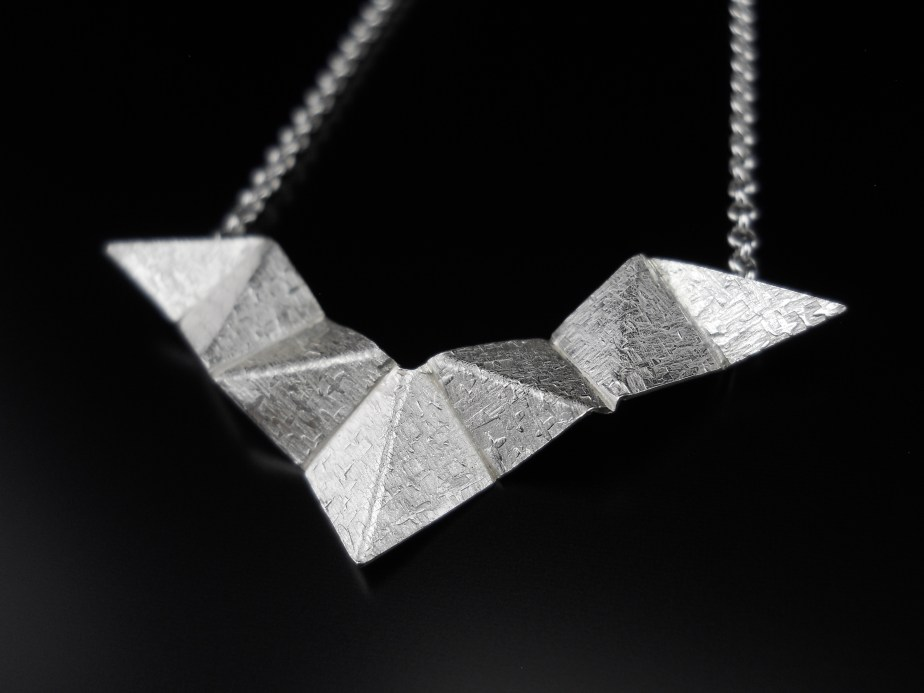 Origami Wings Pendant Silver