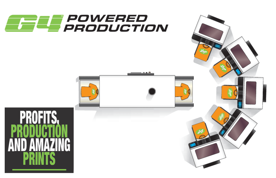 G4 Powered Production - DTG G4 Direct To Garment Printer