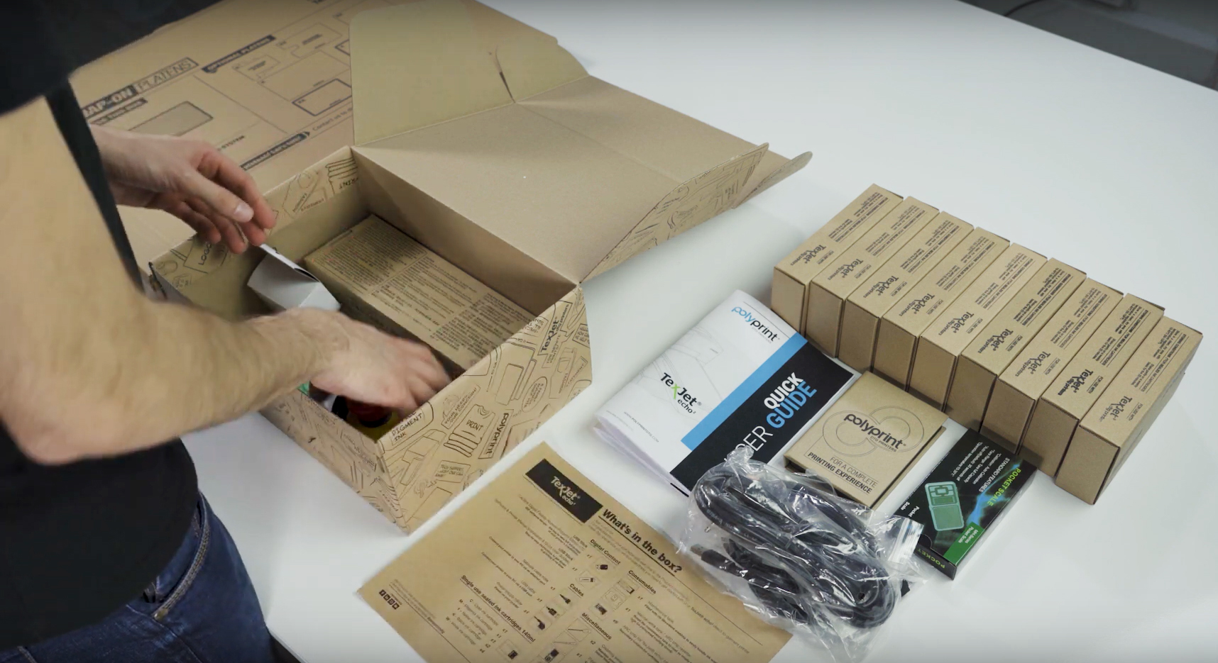 Unboxing Polyprint TexJet echo² Direct To Garment Printer