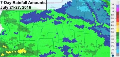 finger lakes rain fall amounts july 27 2016