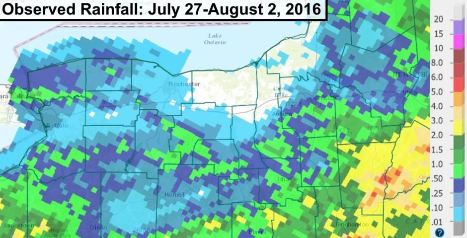 Finger Lakes rain fall amounts