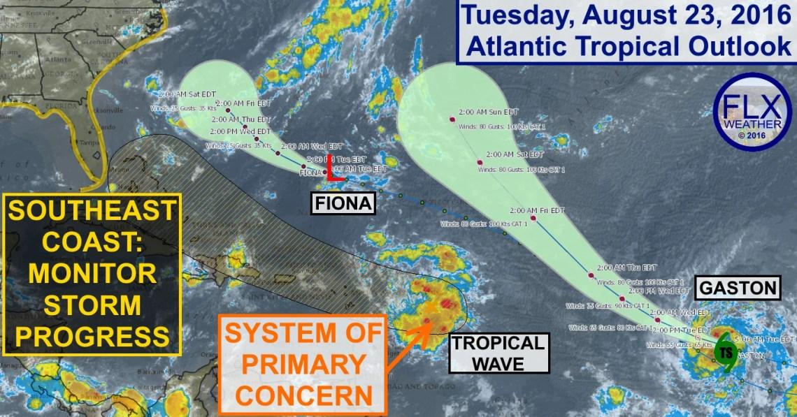 atlantic tropics hurricane fiona gaston hermine