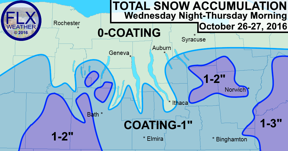 finger lakes southern tier central new york snow forecast october 27 2016