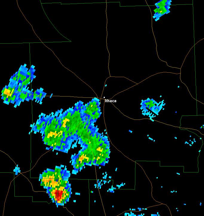 ithaca cold air funnel cloud june 6 2016 radar image