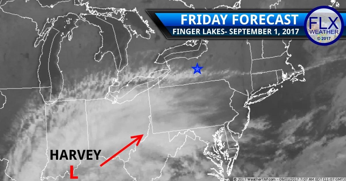 finger lakes weather forecast Harvey satellite rain