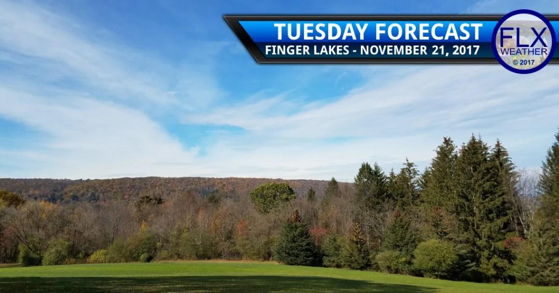 finger lakes weather forecast thanksgiving travel tuesday november 21 2017 sunny mild