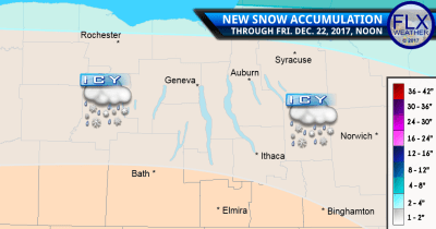 finger lakes weather forecast snow ice accumulation map friday december 22 2017