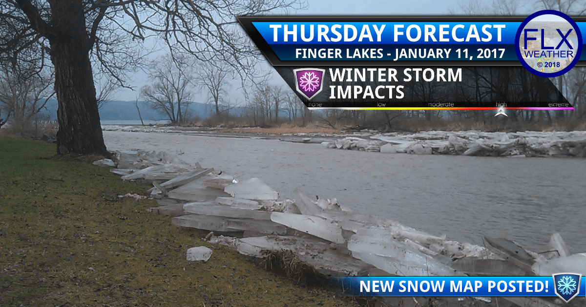 finger lakes weather forecast thursday january 11 2018 winter storm saturday january 13 2018 snow map ice jam flooding