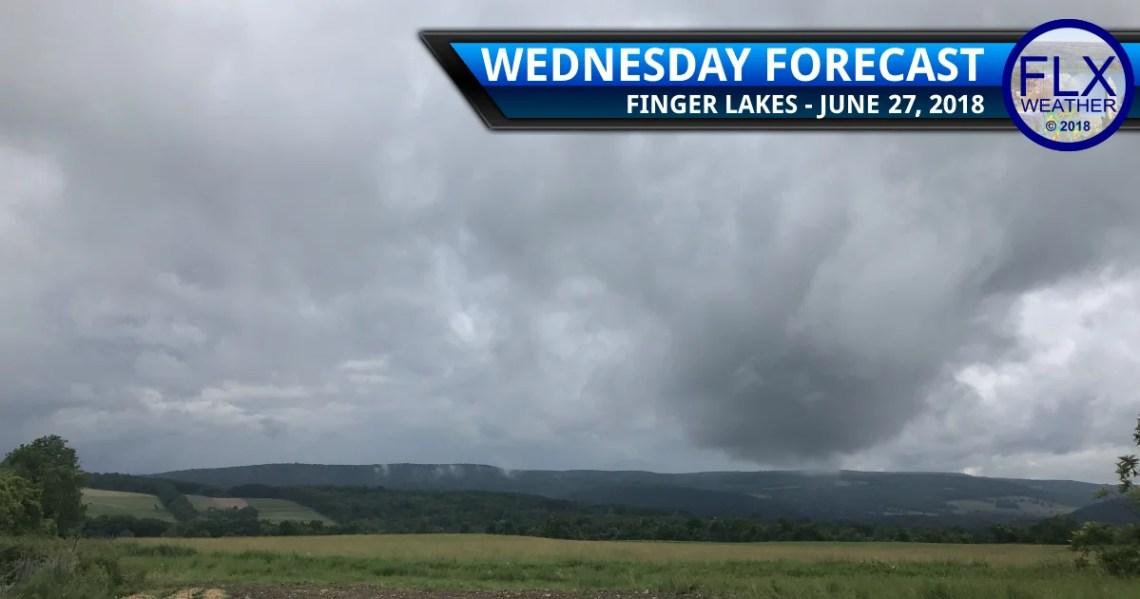 finger lakes weather forecast wednesday june 27 2018 rain thunder