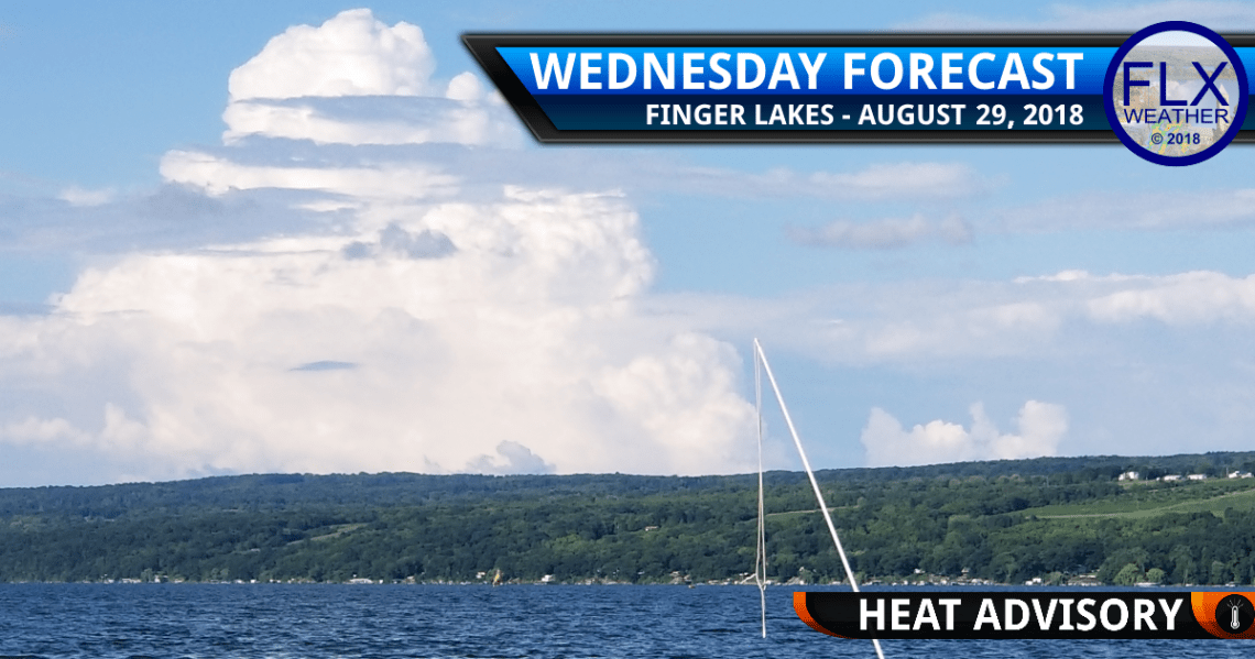 finger lakes weather forecast wednesday august 29 2018 heat advisory thunderstorms cold front