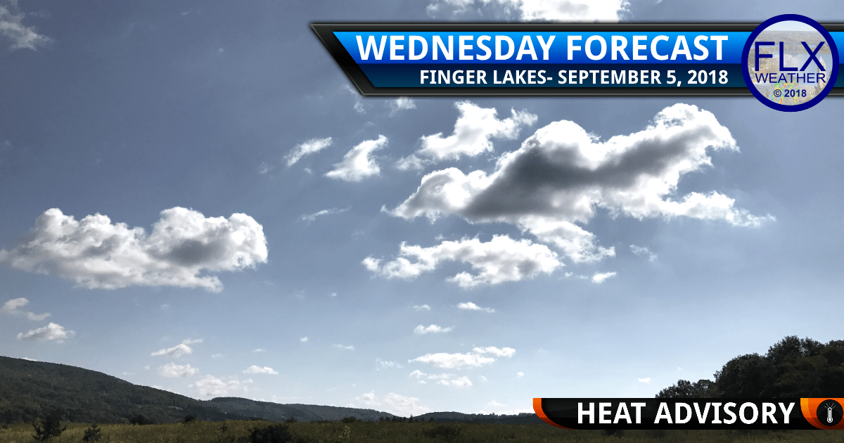 finger lakes weather forecast wednesday september 5 2018 hot humid dewpoint heat index heat advisory