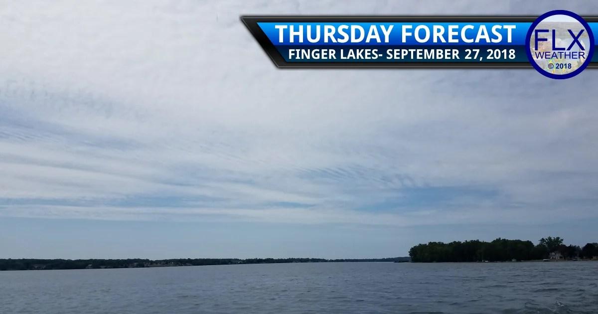 finger lakes weather forecast thursday september 27 2018 clouds overnight rain