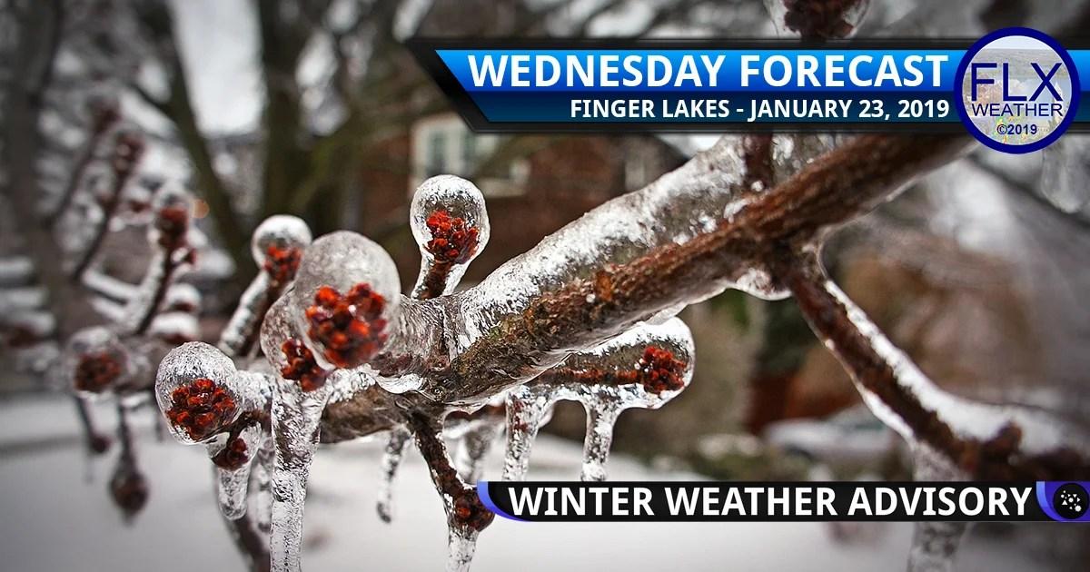 finger lakes weather forecast wednesday january 23 2019 freezing rain ice sleet winter weather advisory rain snow