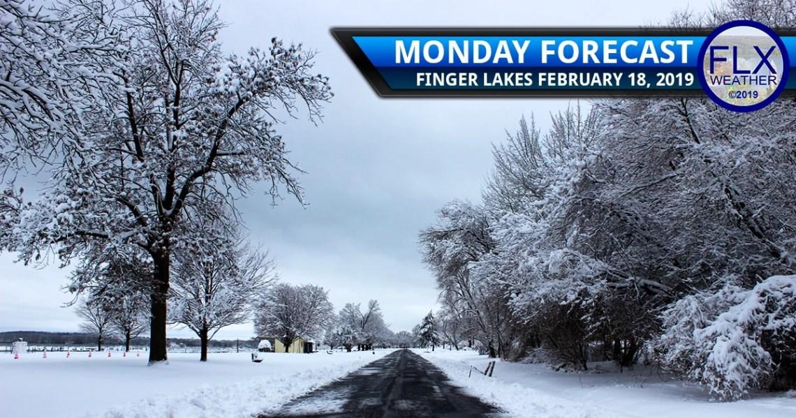 finger lakes weather forecast monday february 18 2019 snow freezing drizzle lake effect wednesday mixed preciptiation
