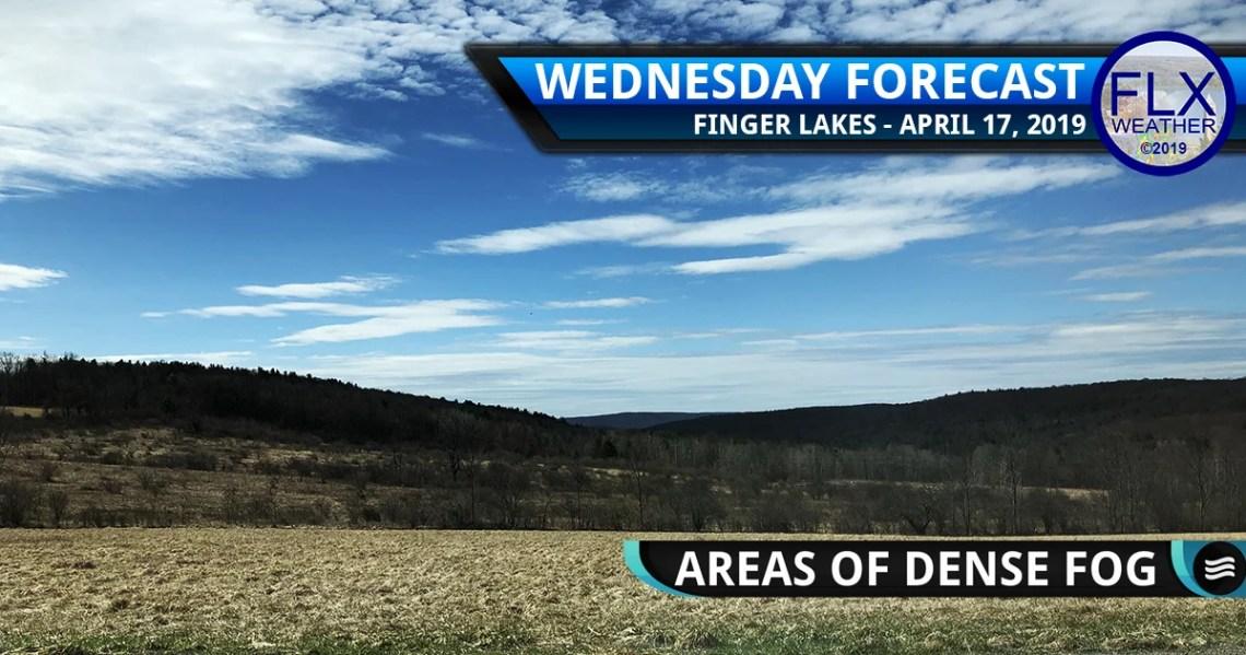 finger lakes weather forecast wednesday april 17 2019 morning fog sunny nice weather