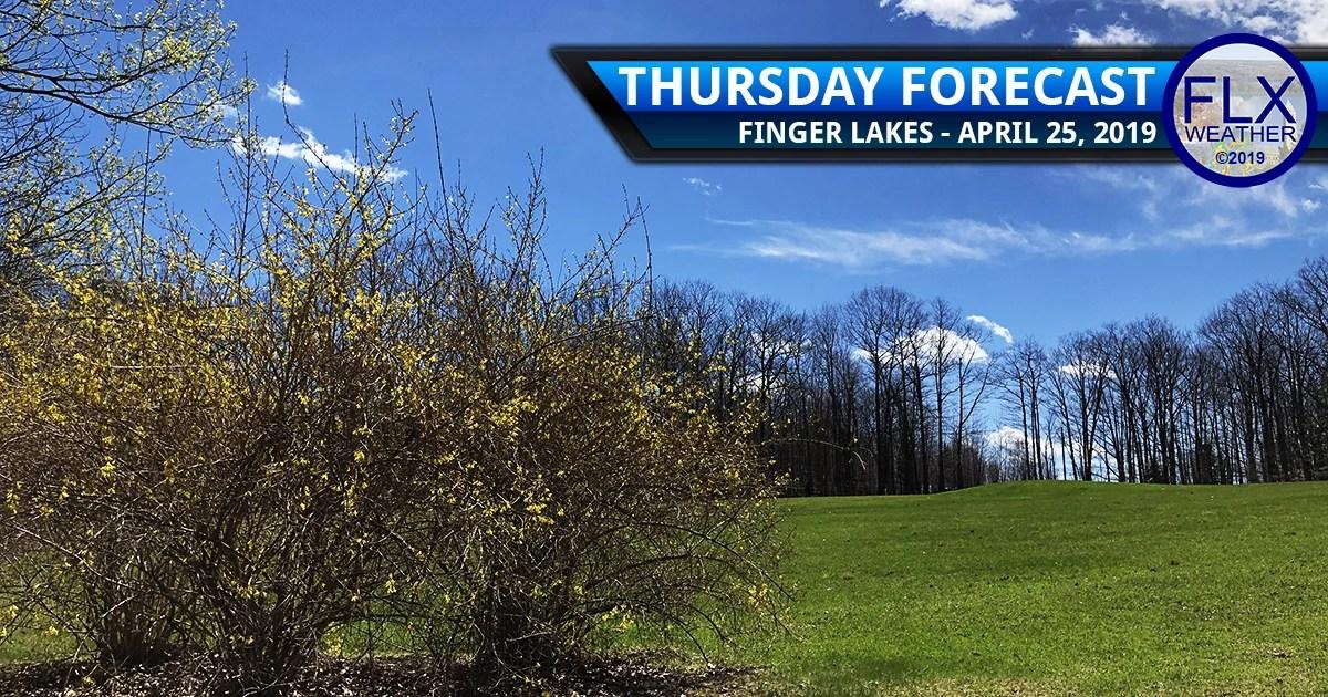finger lakes weather forecast thursday april 25 2019 sunny mild nice weather