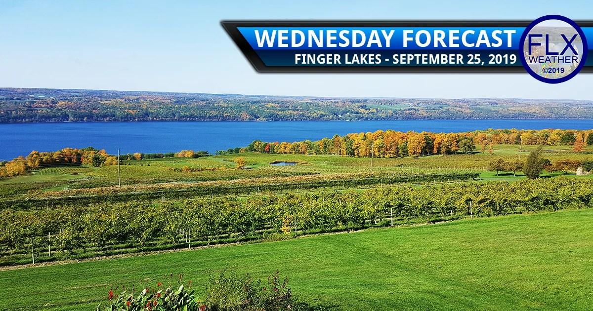 finger lakes weather forecast wednesday september 25 2019 sunny mild temperatures rain thursday