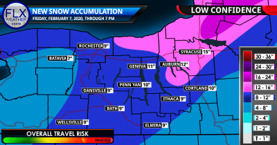 finger lakes weather forecast snow map friday february 7 2020