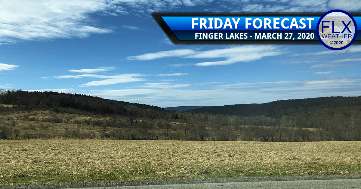 finger lakes weather forecast friday march 27 2020 clouds sun weekend storm system