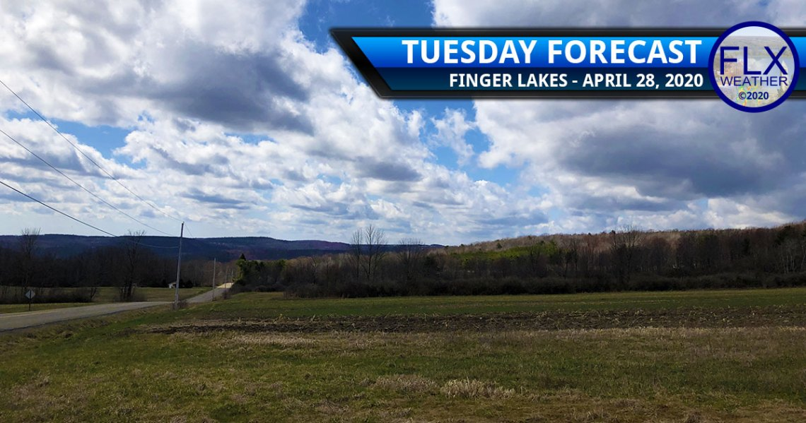 finger lakes weather forecast tuesday april 28 2020 sun clouds comfortable rain wind Wednesday Thursday