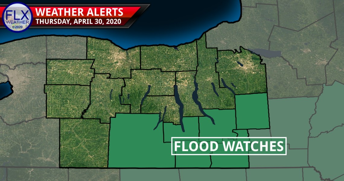 finger lakes weather forecast thursday april 30 2020 heavy rain flood watch strong winds