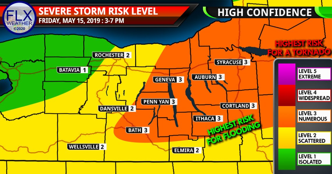 finger lakes weather forecast friday may 15 2020 severe thunderstorm map