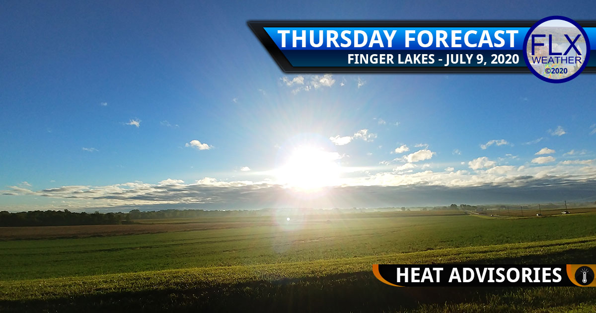 finger lakes weather forecast thursday july 9 2020 hot heat advisory sunny
